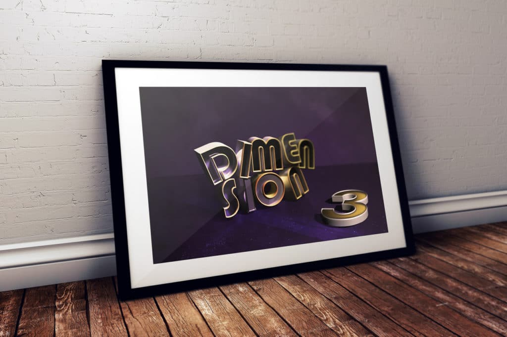 Design typographique en 3D