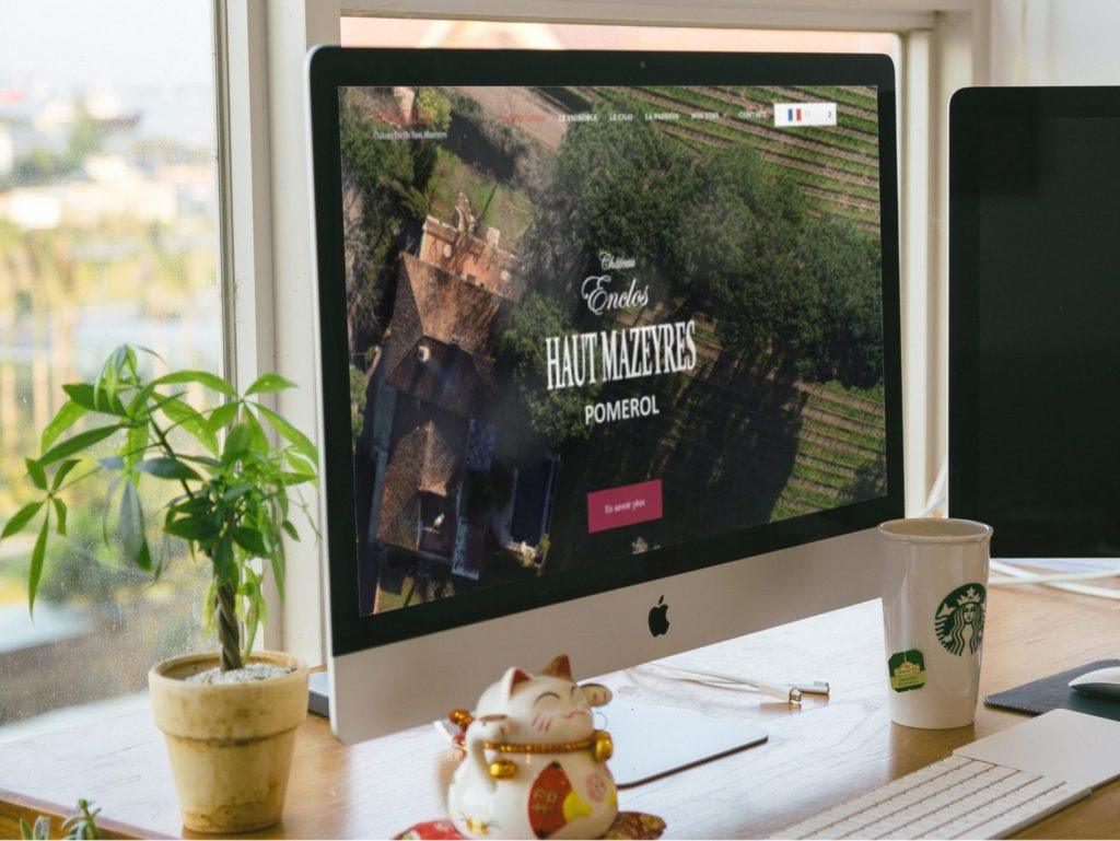 Site internet pour un château Pomerol