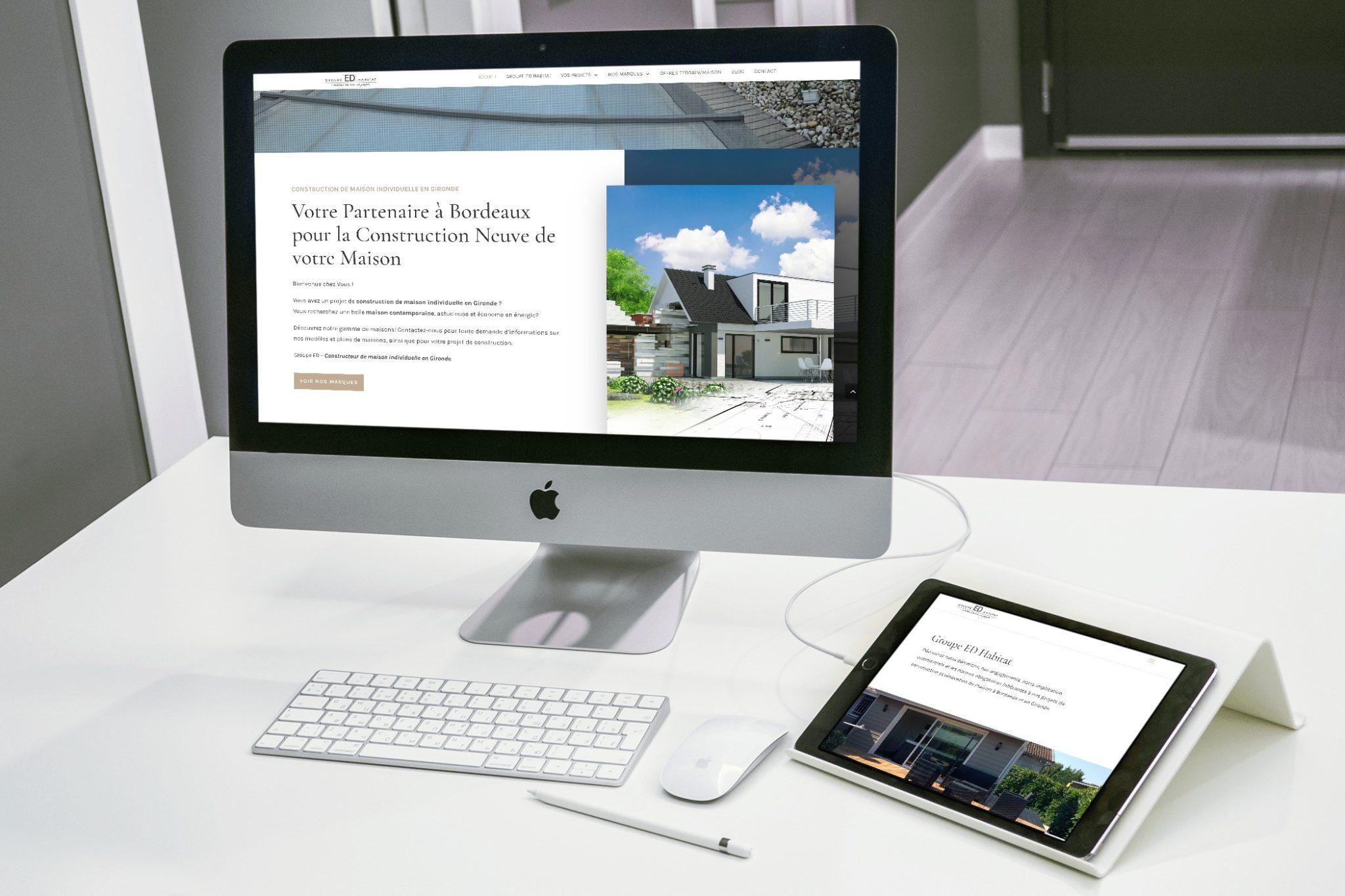 Site WordPress : Groupe ED Habitat
